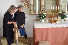 Hørve K - Ny alterdug kniplet af Bodil Sibbernsen 2013 (Karin Wandall og Bodil Sibbernsen)